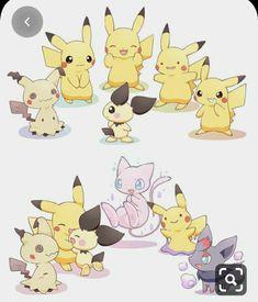 Pikachu Pikachu, Pokemon Eevee, Pokemon Comics, Pokemon Fan Art, Pokemon Ships, Pokemon Funny, Cute Pokemon Pictures, Pokemon Images, Photo Pokémon