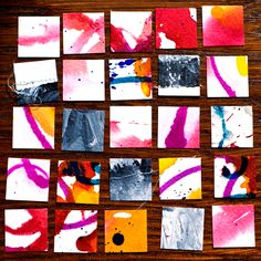 Cut up all those gelli prints you've been accumulating and make some art.