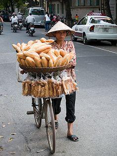 bread vendor, Haiphong, Vietnam #milan #Expo2015 #WorldsFair
