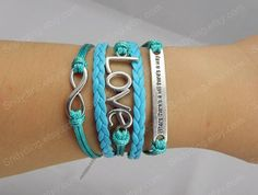 Infinity bacelet love bracelet Where there is a will by Colorbody, $6.29