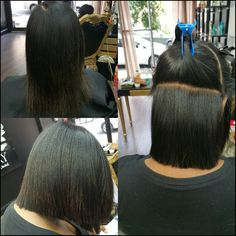 Precision Cut on Natural Hair with silk press