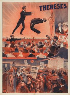 Hypnosis as an art form as been enjoyed for many years, and has taken many forms; the art of the magician, mesmer, magical guru and stage hypnotist. Vintage Circus, Vintage Ads, Vintage Posters, Circus Poster, Retro Poster, The Magicians, Magic Illusions, Fantastic Beasts, Occult