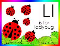 L is for ladybug lesson with printables
