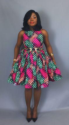 African print cocktail dressAfrican wax print dressesAnkara
