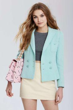 Vintage Chanel Saint-Étienne Bouclé Blazer | Shop Clothes at Nasty Gal