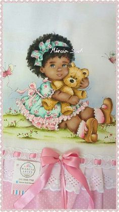 American Children, African American Art, Paper Piecing Patterns, Doll Patterns, Baby Artwork, Baby Deco, Fairy Art, Happy Baby, Black Kids