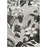 Found it at Wayfair - Platinum Antiqued Silver Flowers Area Rug