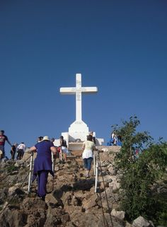 Climbing to the top of Cross a mountain in Medjugorje!