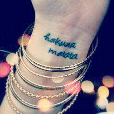 Disney tattoo- hakuna matata Really thinking about this one!