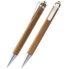 PENNA A SFERA mod. 10621200, con meccanismo a scatto. In Bamboo.