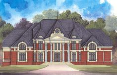 Opulent and Elegant Estate Home Plan - 12215JL   European, Luxury, 1st Floor Master Suite, Butler Walk-in Pantry, CAD Available, Den-Office-Library-Study, Elevator, MBR Sitting Area, Media-Game-Home Theater, Multi Stairs to 2nd Floor, PDF, Corner Lot   Architectural Designs