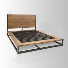 Bed Steel Furniture, Industrial Furniture, Industrial Bed Frame, Diy  Furniture, Modern Furniture