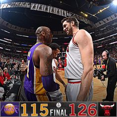 Bulls beat the Lakers 126-115. CHI has now won 8 of their last 10 vs. LAL. 2/21/2016