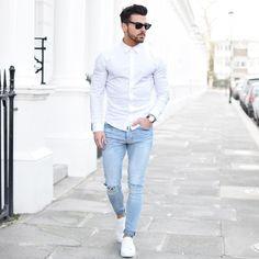 white & denim wht else matter cool street style