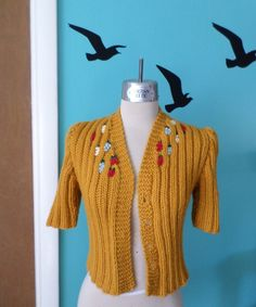 Woodland Folktale  Hand Knitted Cardigan From a Late by Kinfauns