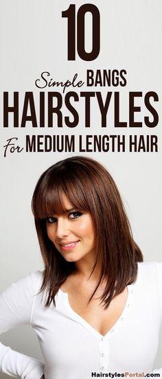 Latest Medium Length #Haircuts With #Bangs
