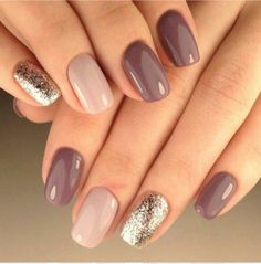 30 trendy glitter nail art design ideas for With glitter nails, brighten u. 30 trendy glitter nail art design ideas for With glitter nails, brighten up your summer looks. Trendy Nails, Cute Nails, My Nails, Best Nails, Classy Gel Nails, Manicure Nail Designs, Nail Manicure, Nail Polishes, Shellac Nails Fall