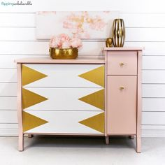 2019 New Milk Paint Colors Furniture, Trendy Furniture, Pink Dresser, Paint Colors For Living Room, Refinishing Furniture, Rustic Furniture Diy, Cool Furniture, Furniture Placement Living Room, Grey Bedroom Furniture Decor