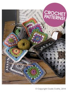Rowan Crochet Granny Squares, free link to download. FOUR designs of granny squares, lovely pinwheel circle design. Link here: http://www.knitrowan.com/files/patterns/Crochet_Granny_Squares.pdf Thanks so for sharing xox