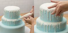 Frozen Tiered Cake Donut Icing Icicles