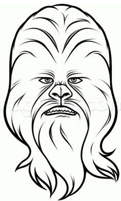 easy drawings star wars chewbacca sketch coloring page