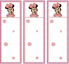 free minnie mouse printables | Minnie Baby Bookmarks, Mickey Mouse, Bookmarks - Free Printable Ideas ...