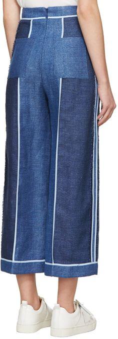 Acne Studios - Blue Linen Odette Trousers
