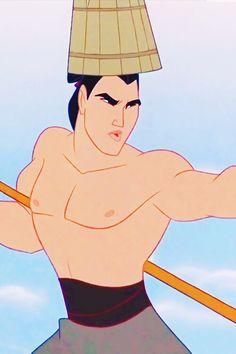 I'll make a man out you Li Shang Disney Mulan Disney Pixar, Disney Au, Disney Songs, Disney Princes, Arte Disney, Disney And More, Disney Animation, Disney And Dreamworks, Disney Love