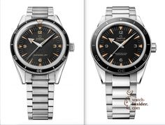 Left the 1957 Omega Seamster 300 and right the 2014 Omega Seamster 300 Master Co-Axial