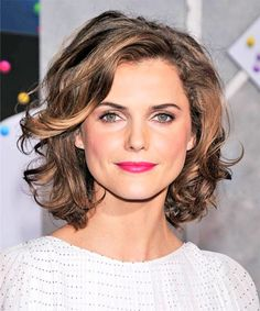 chin length curly hair - Google Search