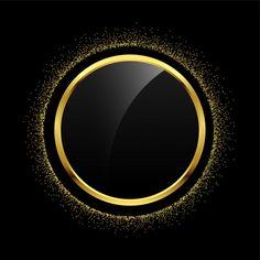 Пустой круг золотой блеск фон рамки Бесплатные векторы