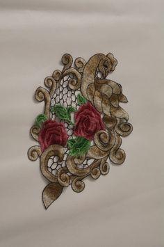 Gestickter Aufnäher gestickte Blumen Patches für Kleid von POPOLace