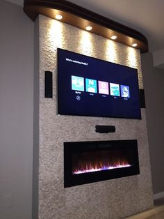 Napoleon EFL50H Linear Wall Mount Electric Fireplace, 50-Inch