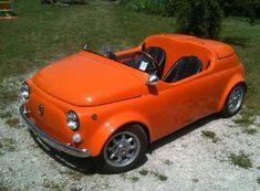 Fiat 500 Cabrio, Vw Wagon, Vw Syncro, Electric Car Concept, Fiat 126, Beach Buggy, Mens Toys, Fiat Abarth, Weird Cars