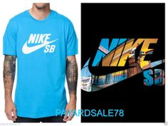 MEN'S SIZE XL LIMITED EDITION NIKE SB SKATE SUPER SOFT TURQUOISE TEE SWOOSH  #Nike #GraphicTee