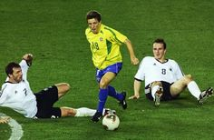 Brazil 2 Germany 0 in 2002 in Yokohama. Juninho shows his ball skill in the World Cup Final.
