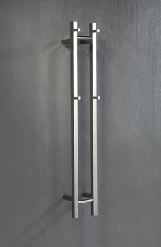Vertical 2 Bar Heated Towel Rail - ABL Tile Centre