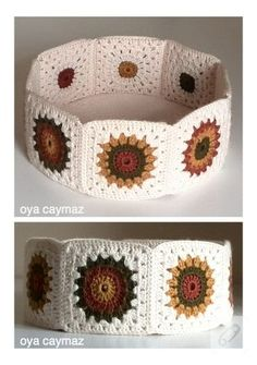 Diy Crochet Granny Square, Crochet Box, Crochet Pillow, Crochet Motif, Crochet Designs, Crochet Crafts, Crochet Doilies, Crochet Projects, Crochet Patterns