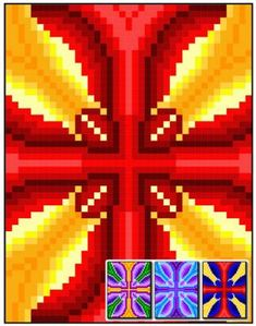 Butterfly Cross Quilt Pattern RMT-0063e Pattern designed by Sheri Rector of Rainbow Moon Treasures