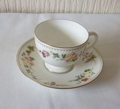 wedgwood mirabelle bone china cup and saucer