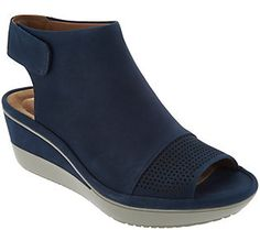 ef372254cbc6 Clarks UnStructured Peep Toe Wedge Sandals -Wynnmere Abie Peep Toe Wedges