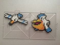 #278-#279 Wingull and Pelipper Perlers by TehMorrison