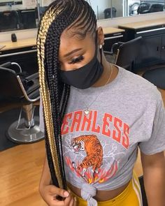 Braided Hairstyles For Black Women Cornrows, Feed In Braids Hairstyles, Braids Hairstyles Pictures, Braids For Black Hair, Weave Hairstyles, Hair Ponytail Styles, Braided Ponytail, Hair Styles, Goddess Braids