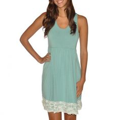 Lace Trim Dress, it would be so cute with a belt :)