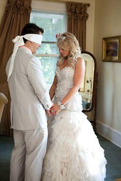 praying together before wedding.