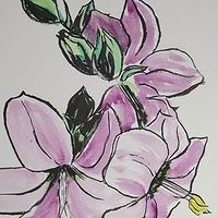 Irish Wild Flower SOLD Watercolor Art Lessons, Watercolour, Watercolor Paintings, Botanical Art, Wild Flowers, Art For Kids, Irish, Board, Funny