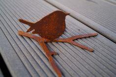rostiger kleiner Piepmatz,Edelrost Vögelchen von Little Things auf DaWanda.com
