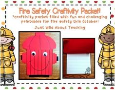 Fire Safety Week is October 6-12th. With this craftivity packet, your kiddies will have the information they need for fire prevention. This packet will let your students know in a fun way about fire safety and have them discuss it with their parents at home.