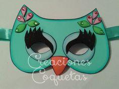 Mascara de Buho!! En foami