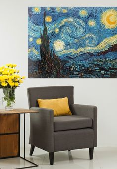 """The Starry Night"" from June 1889 by Vincent Van Gogh via @greatbigcanvas available at GreatBIGCanvas.com."